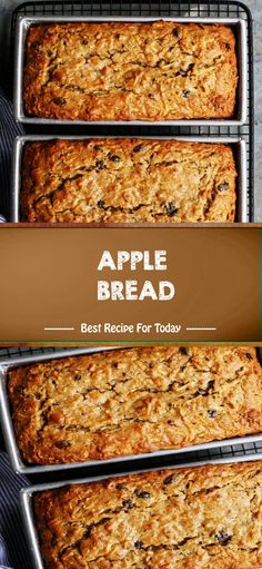 INGREDIENTS 4 large Granny Smith, Haralson, or Honeycrisp apples (or your favorite firm, tart apple variety), peeled 2 c. Apple Desserts, Apple Recipes, Bread Recipes, Baking Recipes, Delicious Desserts, Dessert Recipes, Apple Cakes, Fruit Bread, Apple Bread