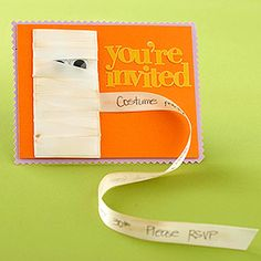 Halloween Party Invitations & Cards: Mummy Invite