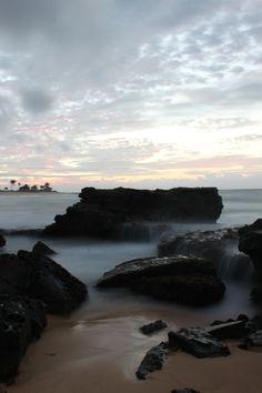 . . . Sandy Beach . . . Honolulu, Hawaii.