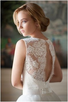 Lack back bridal wear by Fabienne Alagama