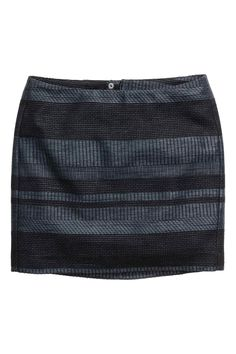 Spódnica z żakardowej tkaniny: Krótka, żakardowa spódnica z mieszanki…