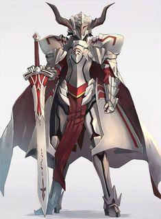 World of Our Fantasy Fantasy Armor, Fantasy Weapons, Dark Fantasy Art, Fantasy Character Design, Character Design Inspiration, Character Art, Fate Zero, Fate Apocrypha Mordred, Arte Dark Souls