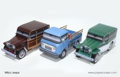 Willy's Jeep paper models | papercruiser.com