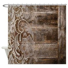 barn wood lace western country Shower Curtain on CafePress.com