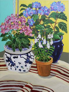 Oil painting - the living art! Oil Painting Tips, Plant Painting, Plant Art, Artist Painting, Painting Flowers Tutorial, Oil Painting Flowers, Flower Vases, Flower Art, Pottery Painting