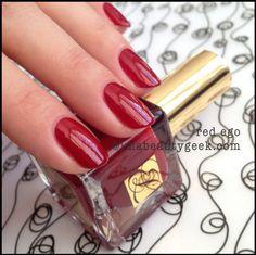 Brand: Estee Lauder // Collection: Pure Color Envy 2014 Spring and Summer // Color: Red Ego // Blog: imabeautygeek (Karen Falcon)