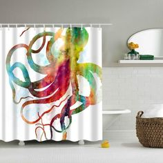 Colorful Octopus Shower Curtains