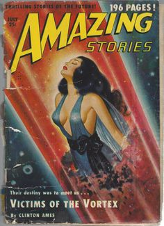 Amazing Stories Oct 1950 v24 issue 7 Sci Fic Thrilling Future