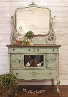 Vintage Duck Egg is always a crowd favorite, and this gorgeous piece from The Bent Willlow proves why! Green Furniture, Diy Furniture, Farmhouse Furniture, Fireplace Furniture, Sideboard Furniture, Furniture Removal, Kitchen Furniture, Bedroom Furniture, Outdoor Furniture