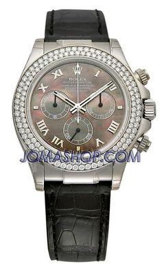 Rolex Daytona Mother of Pearl Diamond Dial Leather Bracelet Diamond Bezel Mens Watch 116589MDL  Rolex Oyster Perpetual Cosmograph Daytona Mens Watch. 40mm 18K white gold case, bezel set with 124 diamonds... http://wkup.co/cash_back/MjA3MDIwODIz/MTA0MTUwOQ==