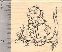 Reading Owl Rubber Stamp, Kids Need to Read, Educational Series (K25602) $12 at RubberHedgehog.com