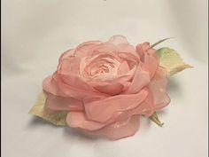 Как сделать розу из шифона. Мастер класс.