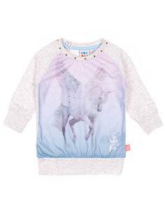 Tee-shirt tunique avec imprimé de licorne et manche ranglan Rococo - Mode Choc | Le grand magasin de la mode