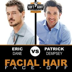 #malegrooming #shaving #sexyscruff #stubble #mensfashion #celebrities #Hollywoodhunks #EricDane #PatrickDempsey #GreysAnatomy