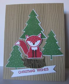 Barb Mann Stampin' Up! Demonstrator - SU - Foxy Christmas Wishes Card - Foxy Friends, Holly Jolly Greetings