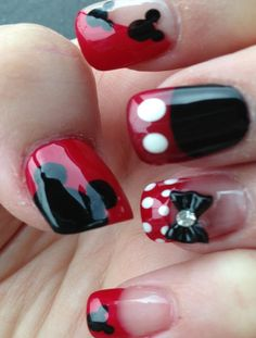 Mickey Nail Art for Girls