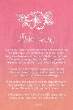Affirmation - Aloha Spirit by CarlyMarie