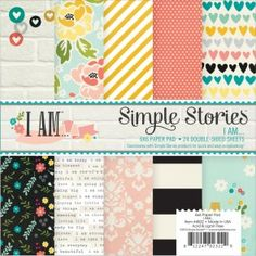 Simple Stories I Am Paper Pad 6X6