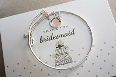 Cake - Bridesmaid - Keepsake Personalized Bangle Set for Bridal Party | *More Colors Available