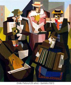 Quinteto (1927) Emilio Pettoruti- Picasso influence
