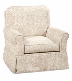 Avery Slipcovered Swivel Glider Chair