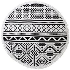 Aztec Round Beach Towel.