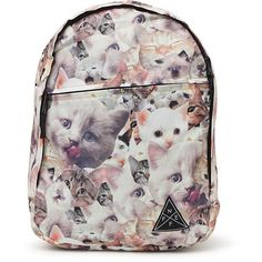 Neff Daily Meow Backpack (94 LTL) ❤ liked on Polyvore
