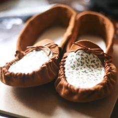 A super cute an affordable way to make and revamp a pair of leather moccasins! #craftgawker