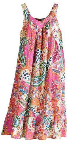 Pretty in Paisleys All-Cotton Nightgown #cotton #nightgown #pattern #woman #cottonnightgownpatternwoman Our Cool Cotton Gown Is Awash in Hot Pink and Orange Paisleys African Fashion Dresses, African Dress, Fashion Outfits, Gothic Fashion, Nightgown Pattern, Casual Dresses, Summer Dresses, Party Dresses, Maxi Dresses