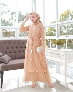 Discover recipes, home ideas, style inspiration and other ideas to try. Model Baju Hijab, Kebaya Modern Hijab, Modern Hijab Fashion, Batik Fashion, Dress Brokat Muslim, Dress Brokat Modern, Kebaya Muslim, Muslim Dress, Model Kebaya Brokat Modern