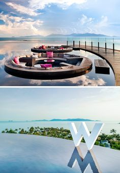 Thailand Travel Inspiration - W Retreat Vacation Places, Dream Vacations, Vacation Spots, Places To Travel, Places Around The World, The Places Youll Go, Places To Visit, Around The Worlds, Pool Bar