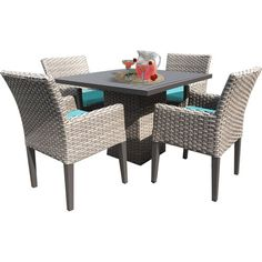 Sol 72 Outdoor™ Rockport 5 Piece Dining Set with Cushions & Reviews | Wayfair Dining Furniture, Outdoor Furniture Sets, Dining Chairs, Patio Dining, Arm Chairs, Furniture Ideas, 3 Piece Dining Set, Dining Sets, Solid Wood Table Tops