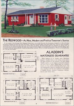 1951 aladdin kit houses the redwood - The Redwood House Plans 1960s