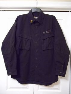 SCENT SHIELD RECON HUNTING SHIRT - BLACK - LONG SLEEVE - SIZE 2 XL  #SCENTSHIELD