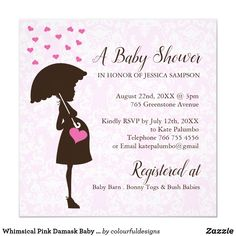 Whimsical Pink Damask Baby Shower Invites Whimsical Pink Damask Baby Shower Invites Designed by Colourful Designs Inc. Copyright CDI and Licensors. All text can be modified. Zazzle Invitations, Baby Shower Invitations, Invites, Party Invitations, Pregnancy Announcement Cards, Wedding Announcements, Baby Barn, Pink Damask, Paper Design
