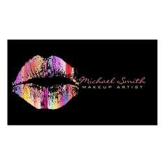 Stylish Lips Makeup Artist #23 Business Card