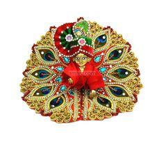 Red Designer Laddu Gopal Poshak, amfez.com https://www.amfez.com
