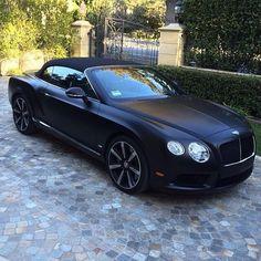 Matt Black Convertible Bentley