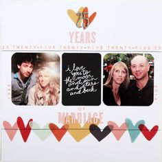 love the grid style pattern of this layout for a rectangular layout. Scrapbook Paper Crafts, Diy Scrapbook, Scrapbook Pages, Scrapbook Page Layouts, Scrapbooking Ideas, Digital Scrapbooking, 7th Wedding Anniversary, Silver Anniversary, Baby Memories