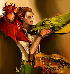 Charlie Weasley with dragons