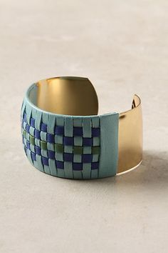 Blue Thatched Cuff - StyleSays