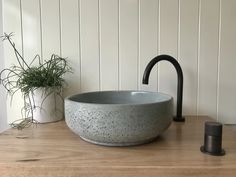 The Lauren vessel basin is beautiful in its simplicity and would make a stunning addition to any bathroom or powder room. Fully sealed and ready to be installed directly on your vanity top or cabinetry. Size: 390mm diameter, 135mm high. Weight: Concrete Basin, Bathroom Inspiration, Bathroom Ideas, Powder Room, Basins, Autumn Colours, Design, Sage, Vanity