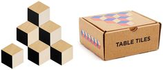80s Gifts: Table Tiles Drink Coasters that look like Q-Bert when you arrange them together!  Totally rad gift idea.