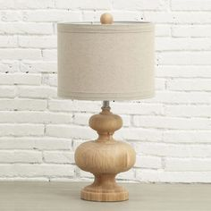 Curvy wood table lamp