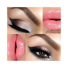 Pretty Pink Lipstick Makeup Ideas for Lovely Women ❤ liked on Polyvore featuring beauty products, makeup, lip makeup, lipstick, dop kit, travel toiletry case, purse makeup bag, makeup purse and wash bag