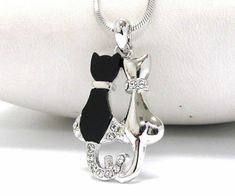 a mythical wild stag on black organza ribbon White Hart of the Woods necklace