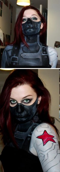 -Amazing cosplay, bucky - c.a the winter soldier.............WOW JUST WOW!!!!!!!!!!!!!- All I can think of is Natasha as the Winter Soldier. And she'd be a fuckin' terrifying Winter Soldier. Even more so than Bucky.