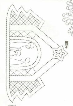 Nacimiento Christmas Sewing, Christmas Embroidery, Bobbin Lace Patterns, Embroidery Patterns, String Art Templates, Bobbin Lacemaking, Embroidery Cards, Sewing Cards, Nativity Crafts