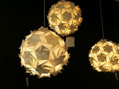 #Origami Lamp Pendants @ Habitat France