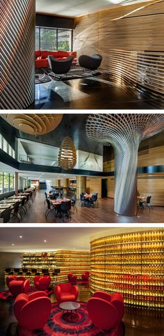 Ron Arad ha ridisegnato la lobby, il Whisky Bar e il ristorante Kingbird, dell'Hotel Watergate di Washington /// Ron Arad redesigned the lobby, the Whisky Bar and the Kingbird Restaurant of the Watergate Hotel in Washington